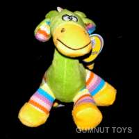 Large Gazzle Giraffe Rattle - Green