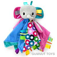 Bright Starts Cuddles n Tags Blankie - Elephant