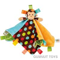 Taggies Dazzle Dots Monkey Character Blanket