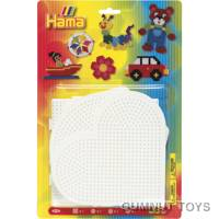 Large Square Circle Heart and Hexagon Pegboards