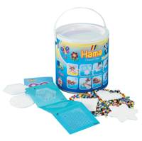 HAMA Beads and Pegboards In Bucket