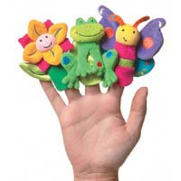 Set of Garden Gallery Finger Puppets