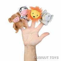 Set of Sweet Safari Finger Puppets