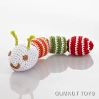 Catterpillar Rattle - Red
